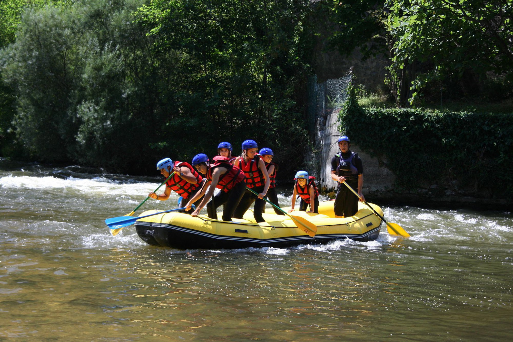 Initiation rafting sur l'Aude